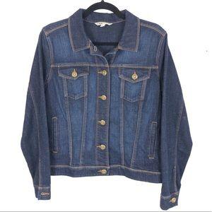 Cabi jeans dark wash jean jacket S18